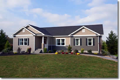 Custom Built Ranch Style Modular Home - Residential Builders